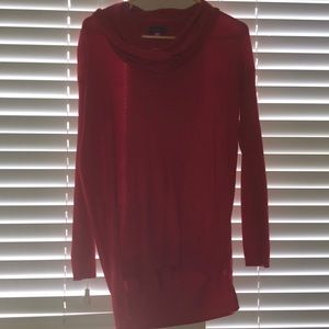 Vince Camuto Red Cowl Neck Tunic Sweater Sz Small